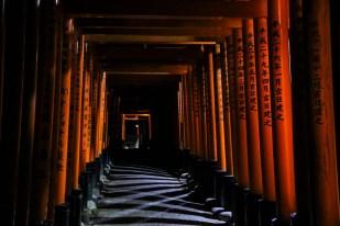 Bramy Fushimi Inari nocą