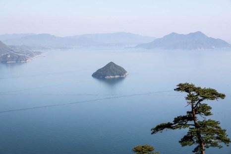 Widok z góry Misem Miyajima