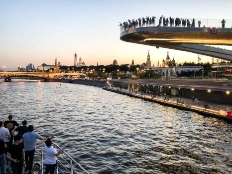 Rejs łodzią po rzece Moskwa punkt widokowy