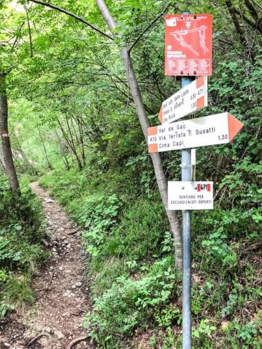Szlak Cima Capi znaki