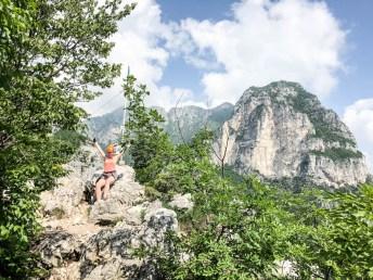 Wspinaczka na ferratach Cima Capi szczyt