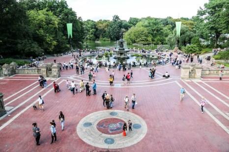 Bethesda Terrace i fontanna
