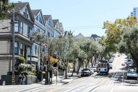Hyde Street tramwaje wzgórze
