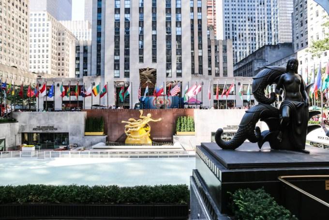 Lodowisko Rockefeller Plaza