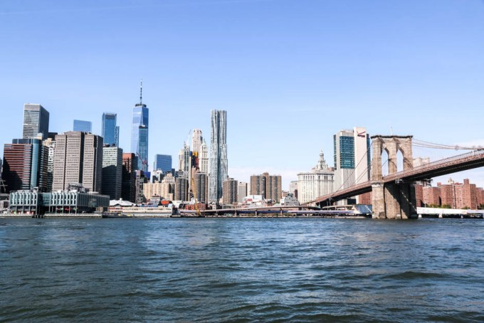 Panorama Manhattanu i Brooklyn Bridge