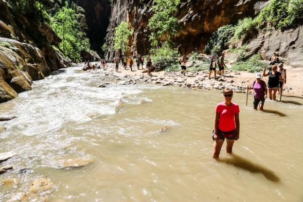 Zion trekking rzeką