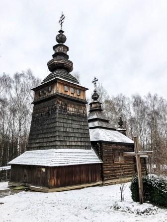 Skansen we Lwowie stara cerkiew