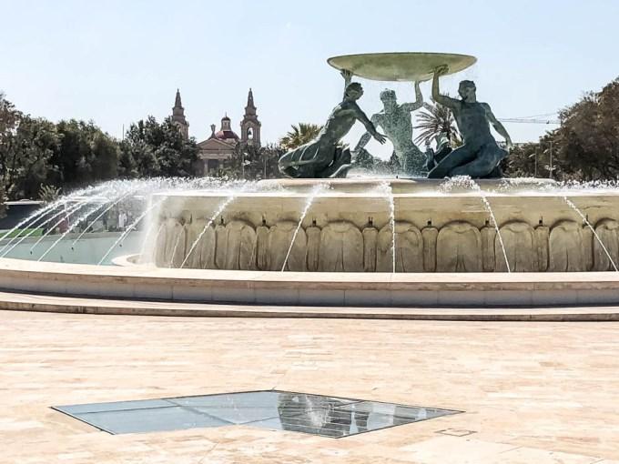 Valetta fontanna Trytona