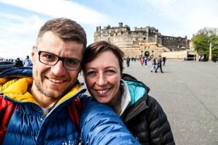 Przed Edinburgh Castle