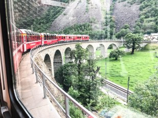 Wiadukty na trasie Bernina Express