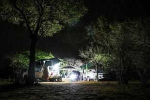 Kemping nocą Namibia