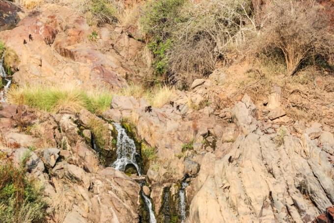 Małpy wodospady Epupa