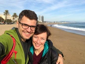 Na plaży Barcelona