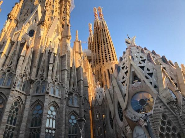 Sagrada Familia o zachodzie słońca 2