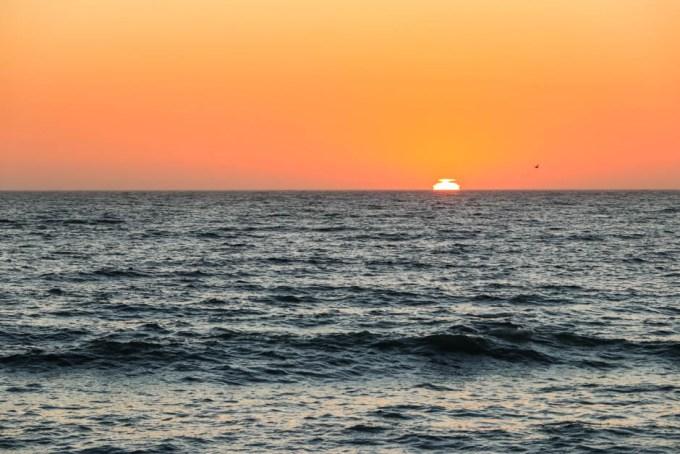 Zachód słońca w Swakopmund