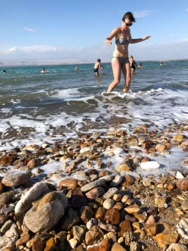 Morze Martwe sól na brzegu