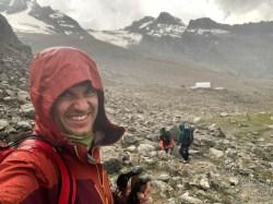 Gran Paradiso atak szczytowy deszcze na powrocie