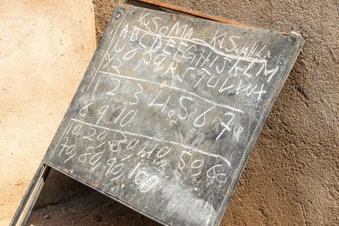 Tanzania wioska Masajow tablica