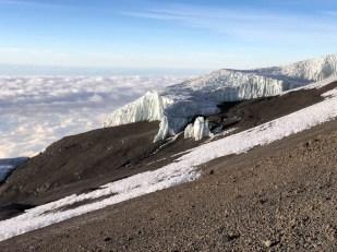 Trekking Kilimandzaro atak szczytowy lodowiec