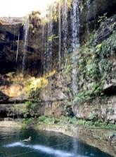 Cenota Jukatan wodospad