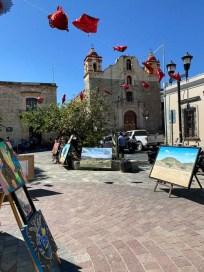Oaxaca park artystów i kościół