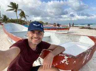 Tulum plaża łódka