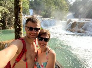 Wodospady Agua Azul kaskady