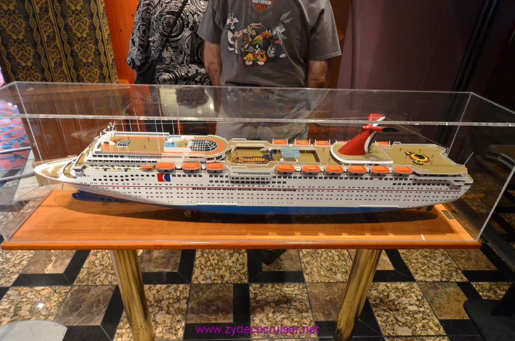 134 Carnival Elation Fun Day at Sea 1 Model outside of Imagination Dining Room