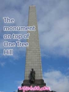 The monument on top of One Tree Hill