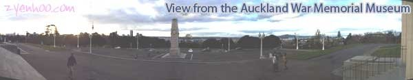 View from the Auckland War Memorial Museum