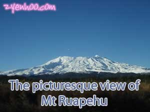 The picturesque view of Mt Ruapehu