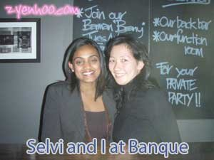 Selvi and I at Banque