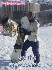 Sze the snowboarder!
