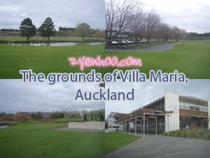The grounds of Villa Maria, Auckland