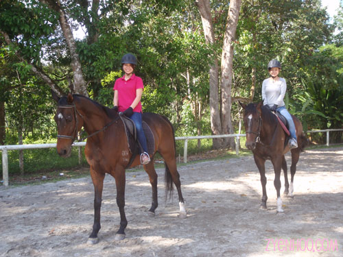 Sze Ling and Jocey after their trail rides