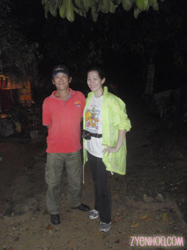 Me with Man, our guide