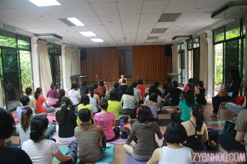 James' Wong conducting the guided meditation