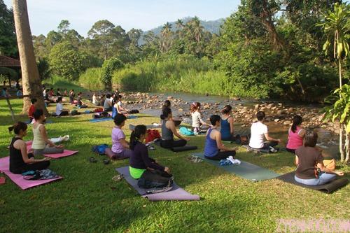 Riverside meditation