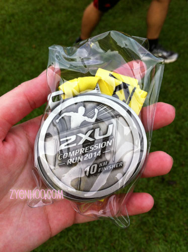 My nice new shiny finisher medal - still in fresh in its pack!