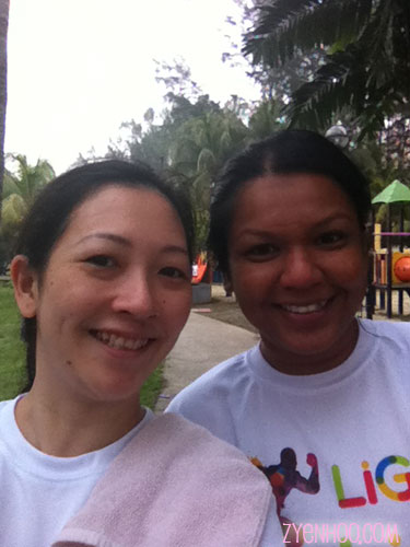 Me with run buddy Farah