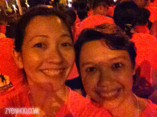 Ika and me at the Start Line