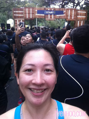 My Start Line selfie!