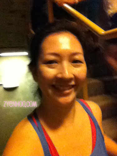 A selfie while climbing the stairs. There is always time for a selfie!