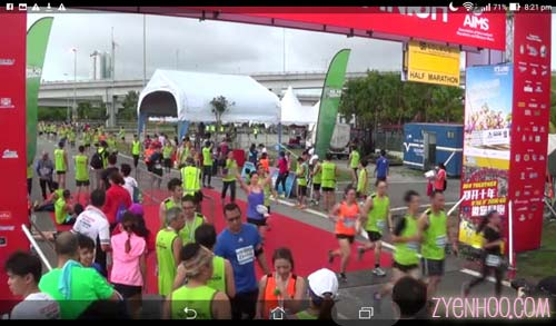 Screengrab of me crossing the finish line in one of the videos!
