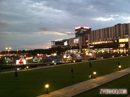 The set up on the Oval Lawn in front of the Setia City Convention Centre