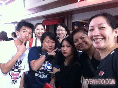 Taking a group we-fie before boarding the bus back home