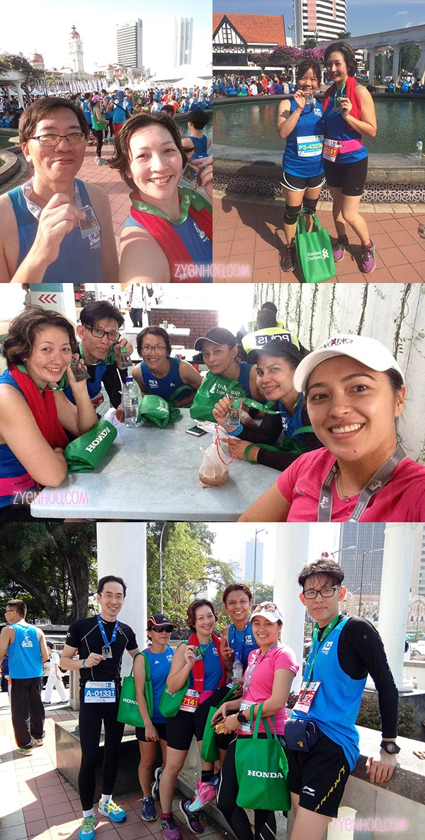 Me with my amazing friends who also finished their respective runs in the 10km, half-marathon, and full marathons!