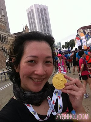Me with my finisher medal!