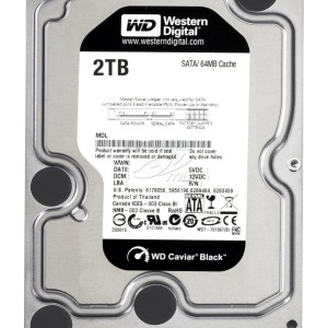 DISCO DURO 3.5″ WESTERN DIGITAL 2TB SATA3 7200RPM BLACK