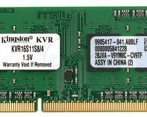 MEMORIA KINGSTON SODIMM DDR3 4GB 1600MHZ CL11